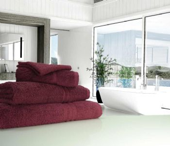 Great Quality Blue Label, 500gsm Bath Towel in Plum